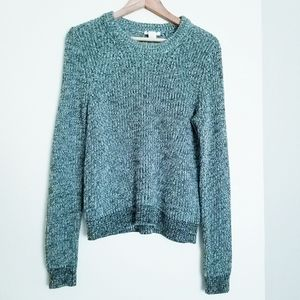 H&M Chunky Knit Forest Green Sweater Size M
